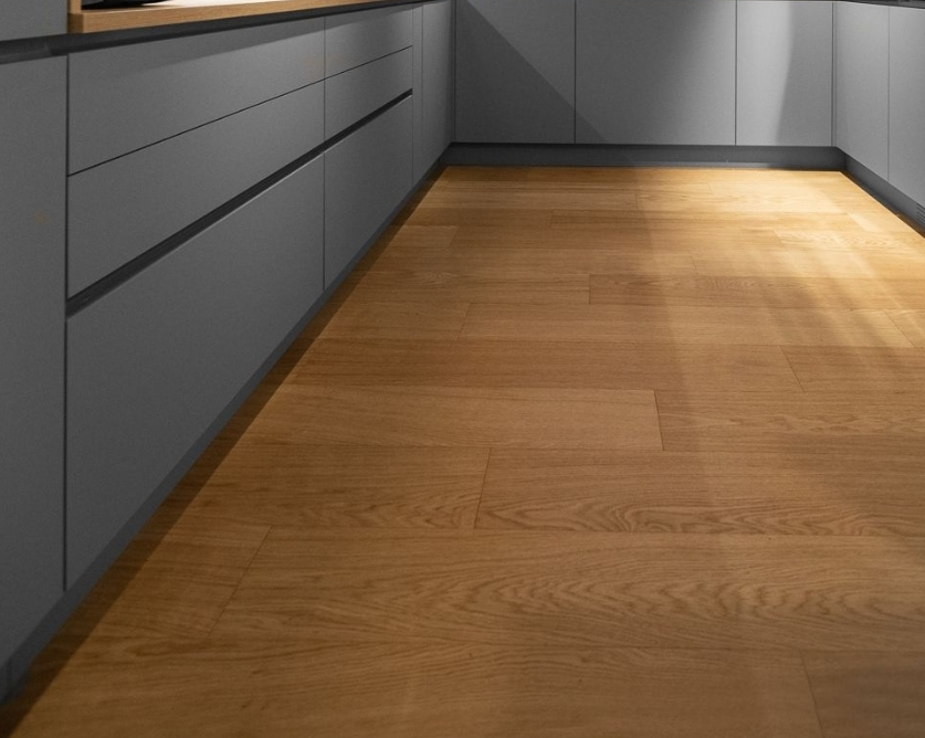 Solid wood floor restoration and reclaiming, Canary Wharf