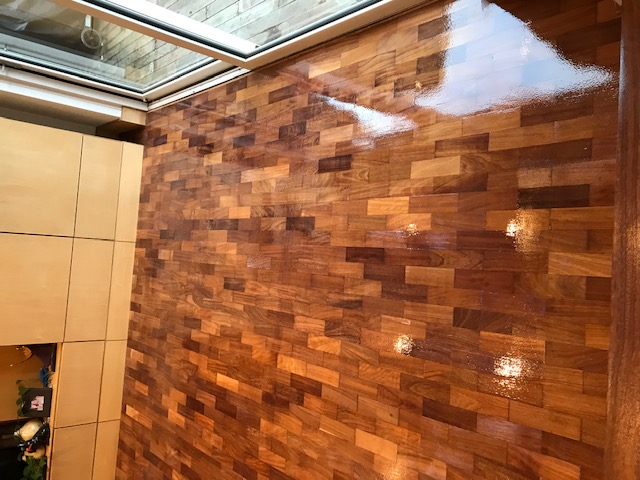 example of Luxury floor restoration and oiling in a house, Chelsea