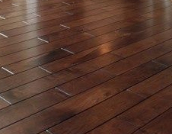 Before and after Solid wood floorboards refinishing and oiling, Enfield