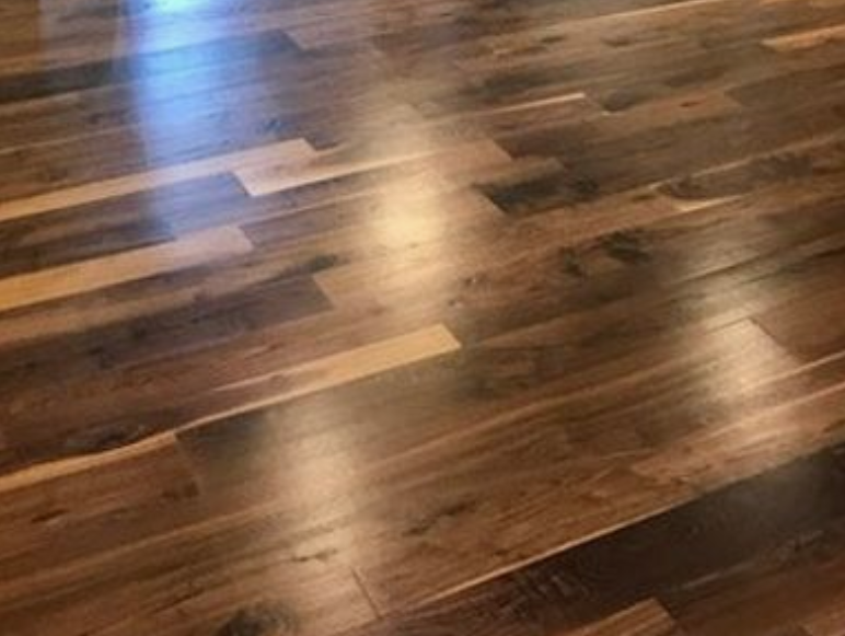 Solid wood floor repair and gap filling - Knight's Hill