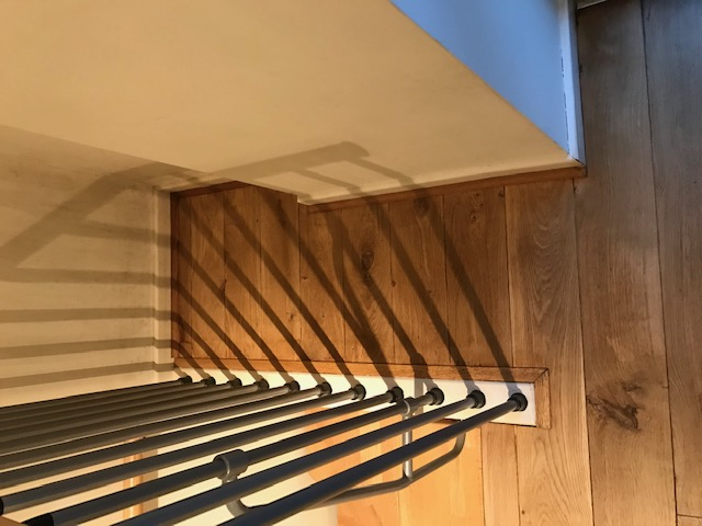 example of Stairs flooring restoration and finishing in a house, Chelsea