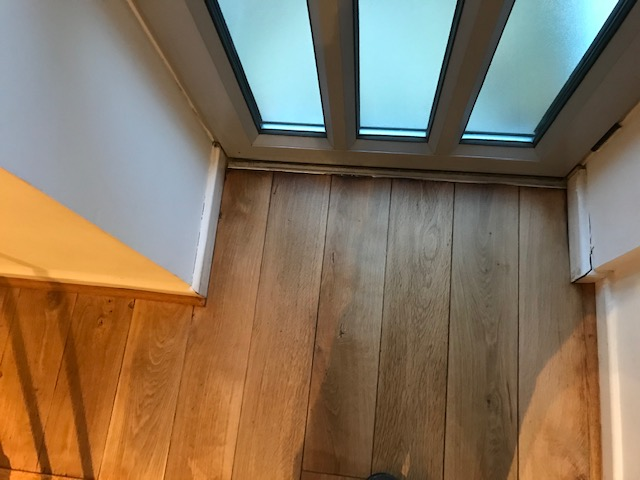 example of Light sanding of hardwood floorboards in a house, Mayfair