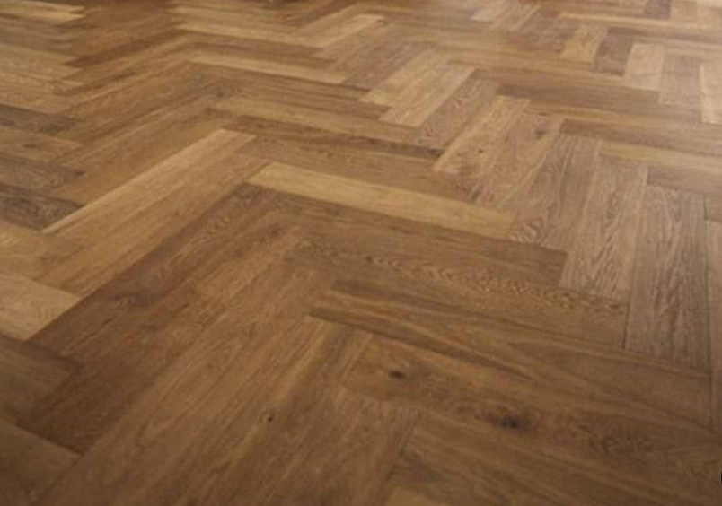 Parquet floor restoration with sanding and staining, Streatham