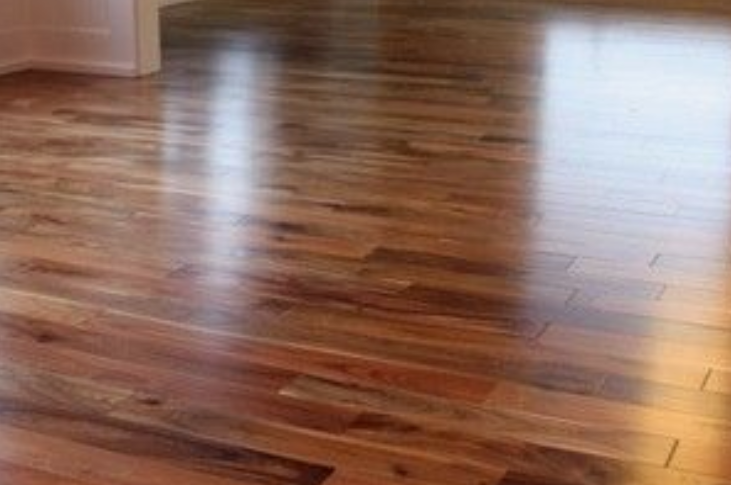 Solid wood floor sanding and staining with polishing, Streatham