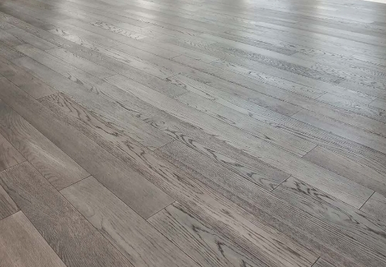 Before and after Solid wood floor restoration and polishing, Westminster