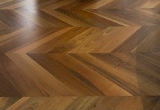 before and after Herringbone floor restoration and staining in a house, Lewisham