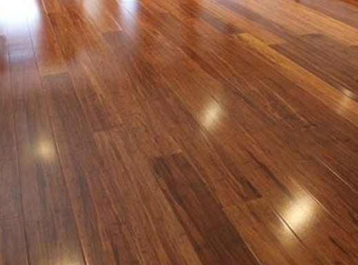 Before and after Parquet refinishing and polishing, Haringey
