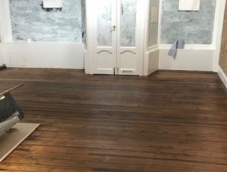 example of Flooring sanding and reclaiming of hardwood floor in a large house, Lambeth
