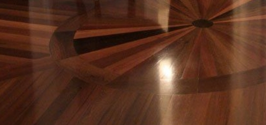 before and after Restoration of luxury flooring in a house, Islington