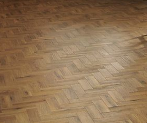 example before and after of Parquet light sandingn in a house, Edgware