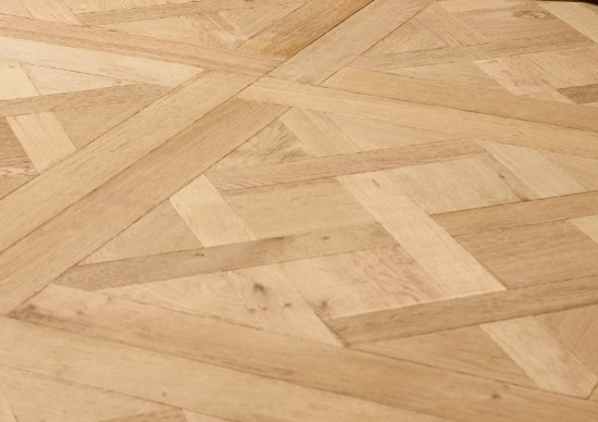 before and after Herringbone floor sanding in an apartment, Islington