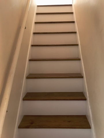 ready stairs after sanding