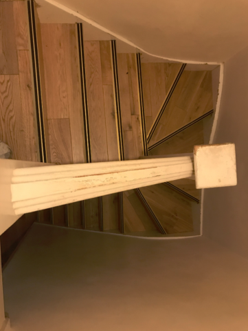 perfect stairs sanding